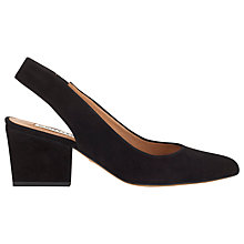 Buy Whistles Annie Block Heel Slingback Shoes, Black Online at johnlewis.com