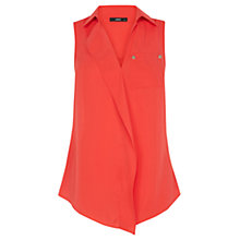 Buy Oasis Sleeveless Frill Front Shirt Online at johnlewis.com