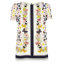 Buy Oasis Butterfly Scarf Print T-Shirt, Multi Online at johnlewis.com