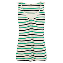 Buy Oasis Stripe Double Layer Vest, Green/Multi Online at johnlewis.com