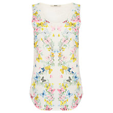 Buy Oasis Butterfly Placement Vest Top, Off White Online at johnlewis.com
