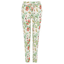 Buy Oasis Butterfly Soft Trousers, Multi/Natural Online at johnlewis.com