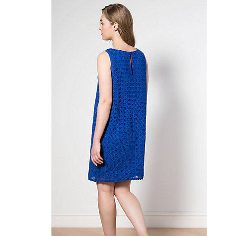 Buy Violeta by Mango Crochet Dress, Bright Blue Online at johnlewis.com