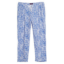 Buy Violeta by Mango Printed Baggy Trousers, Bright Blue Online at johnlewis.com
