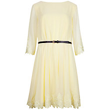 Buy Ted Baker Heavy Lace Embroidered Dress, Lemon Online at johnlewis.com