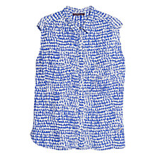 Buy Violeta by Mango Printed Blouse, Bright Blue Online at johnlewis.com