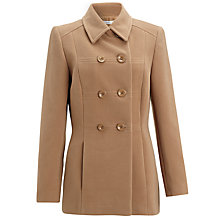 Buy John Lewis Double Breasted Reefer Jacket, Camel Online at johnlewis.com