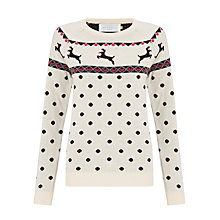 Buy Collection WEEKEND by John Lewis Reindeer Spot Print Jumper, Multi Online at johnlewis.com