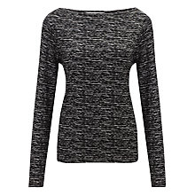 Buy John Lewis Cloud Stripe Top, Grey/Black Online at johnlewis.com