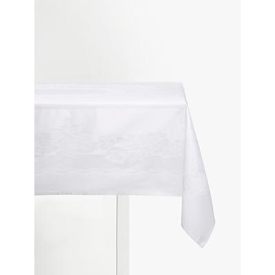 John Lewis Rose Jacquard Tablecloth, White