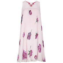 Buy Ted Baker Tulip Pleated Detail Dress, Pale Pink Online at johnlewis.com