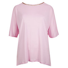 Buy Ted Baker Pink Chain Detailed T-Shirt, Baby Pink Online at johnlewis.com