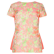 Buy Ted Baker Jacquard Contrast Panel Top, Light Pink Online at johnlewis.com