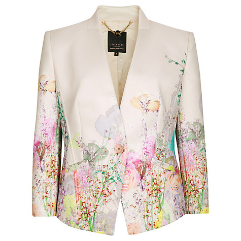 Buy Ted Baker Wispy Meadow Print Jacket, Light Pink Online at johnlewis.com