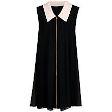 Buy Ted Baker Collar Detail Tunic Dress, Black Online at johnlewis.com