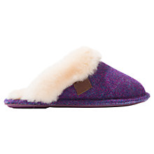 Buy Bedroom Athletics Elizabeth Double Faced Harris Tweed Mule Slippers Online at johnlewis.com