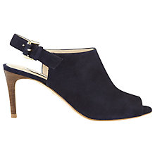 Buy Whistles Shone Suede Stiletto Heels, Navy Online at johnlewis.com