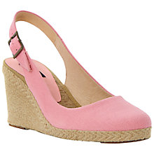 Buy Dune Black Imperia D Canvas Wedge Heel Espadrille Sandals, Pink Online at johnlewis.com