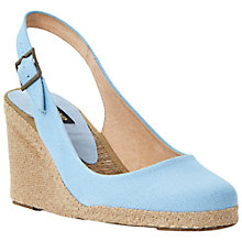 Buy Dune Black Imperia D Canvas Wedge Heel Espadrille Sandals Online at johnlewis.com