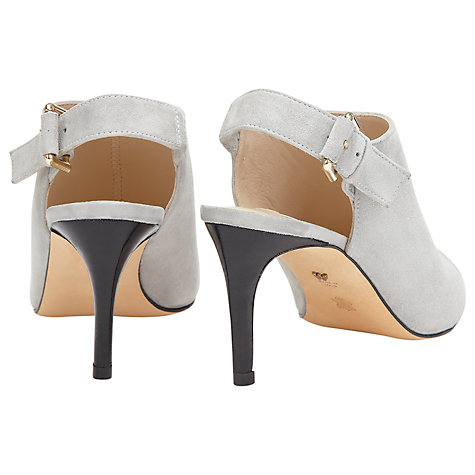 Buy Whistles Shone Suede Stiletto Heels, Grey Online at johnlewis.com