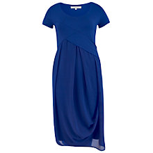 Buy Chesca Jersey Chiffon Dress, Sapphire Online at johnlewis.com