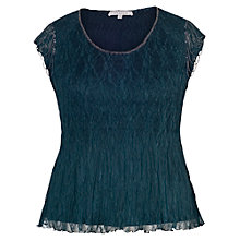 Buy Chesca Crush Pleat With Beaded Trim Top, Ink Online at johnlewis.com
