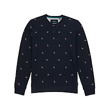 Buy Ted Baker Breakme Embroidered Sweatshirt, Dark Blue Online at johnlewis.com