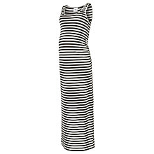 Buy Mamalicious Maia Stripe Jersey Maxi Dress, Black Online at johnlewis.com