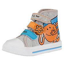 Buy Mr Tickle Hi-Tops Canvas Trainers, Grey/Orange Online at johnlewis.com