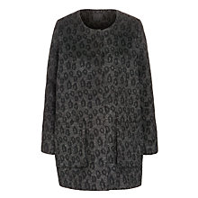 Buy Minimum Dinah Leopard Print Jacket, Black Online at johnlewis.com