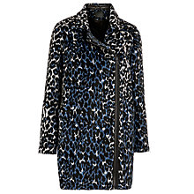 Buy Minimum Kaisa Leopard Coat, Black Online at johnlewis.com