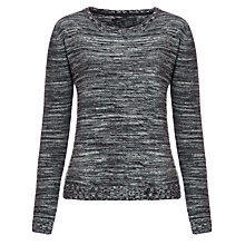 Buy Minimum Fidela Tweed Jumper, Black Online at johnlewis.com