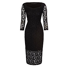 Buy Minimum Lilja Lace Dress, Black Online at johnlewis.com