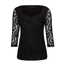 Buy Minimum Ashley Lace Blouse, Black Online at johnlewis.com