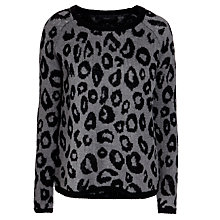 Buy Minimum Posy Leopard Knit, Black Online at johnlewis.com