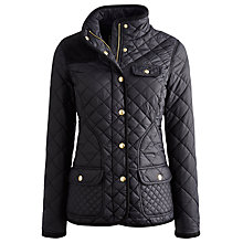 Buy Joules New Calverly Quilted Jacket, Black Online at johnlewis.com