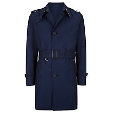 Buy Aquascutum Pattison Single Breasted Trench Coat, Navy Online at johnlewis.com
