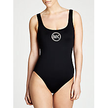 Buy MICHAEL Michael Kors U Neck Maillot Swimsuit, Black Online at johnlewis.com