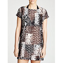 Buy MICHAEL Michael Kors Patchwork Snake Print Cover Up Dress, Milk Chocolate Online at johnlewis.com