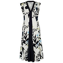 Buy Chesca Floral Print Dress, Ivory/Ink Online at johnlewis.com