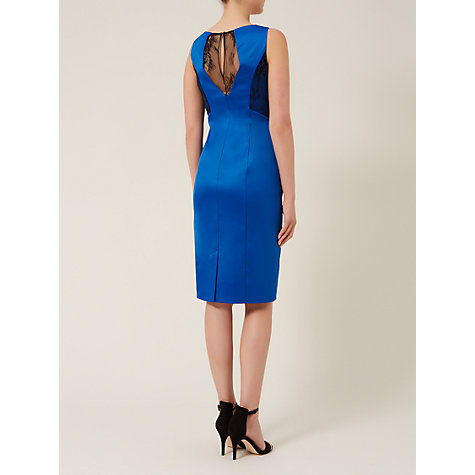 Buy Planet Lace Insert Jersey Dress, Bright Blue Online at johnlewis.com