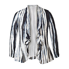 Buy Chesca Shadow Striped Shrug, Ivory/Ink Online at johnlewis.com