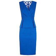 Buy Planet Peplum Dress, Bright Blue Online at johnlewis.com
