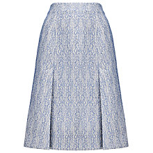 Buy Whistles Ruby Deep Split Skirt, Blue/Multi Online at johnlewis.com