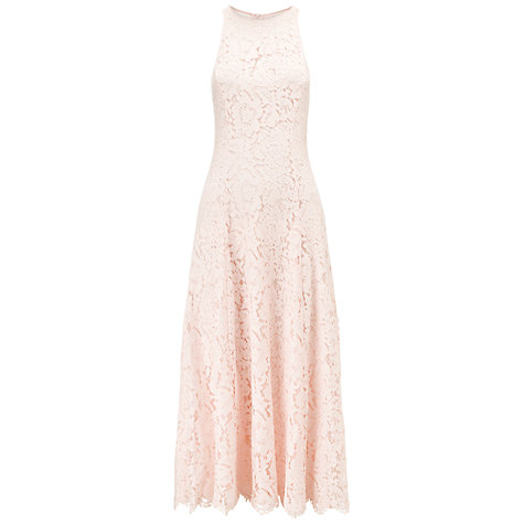 Buy Whistles Cora Lace Dress, Pink Online at johnlewis.com