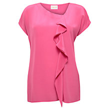 Buy East Drape Silk T-Shirt, Azalea Online at johnlewis.com