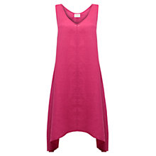 Buy East Hankerchief Hem Linen Dress, Azalea Online at johnlewis.com