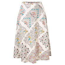 Buy East Radha Print Skirt, White Online at johnlewis.com