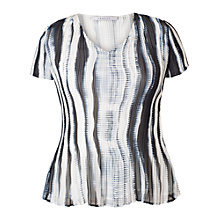 Buy Chesca Shadow Striped Short-Sleeved Top, Ivory/Ink Online at johnlewis.com