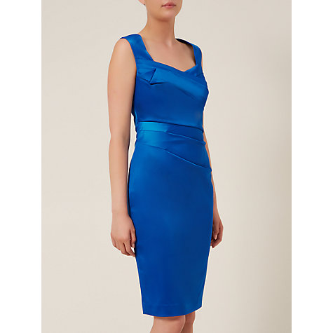 Buy Planet Sateen Dress, Bright Blue Online at johnlewis.com